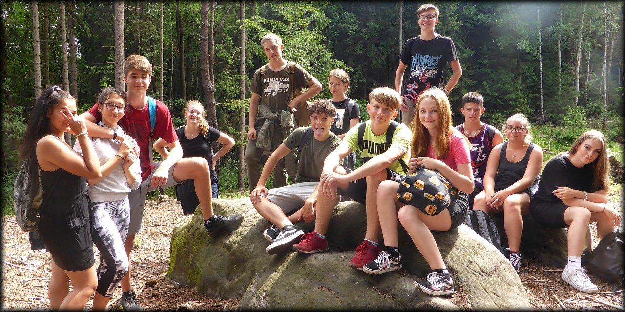 Školní výlet 9.B do Prachovských skal